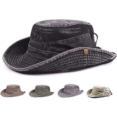 Obling sombrero para el sol, sombrero de pesca UPF 50 de ala ancha, sombrero de safari boonie