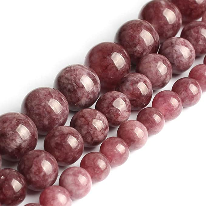 Amazon.com: Calvas Natural Stone Beads Lepidolite Round Loose Beads for Jewelry Making 6/8/10mm 15.5inches DIY Bracelet - (Item Diameter: 8mm 46pcs Beads): Arts, Crafts & Sewing