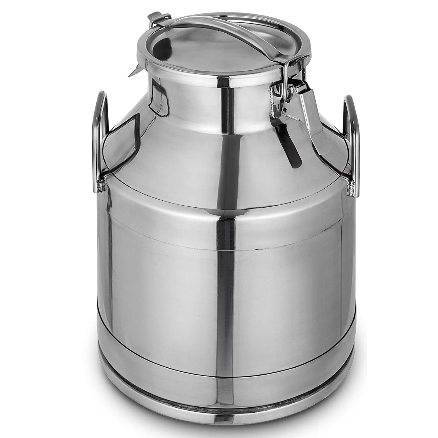 Mophorn 304 Stainless Steel Milk Can 20 Liter Milk bucket Wine Pail Bucket 5.25 Gallon Milk Can Tote Jug with Sealed Lid Heavy Duty