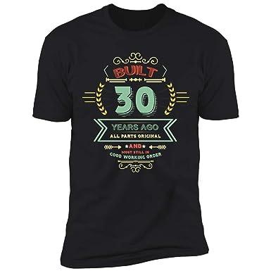 Amazon Built 30 Years Ago Men Women Birthday Gift Ideas 30th Funny Cut Premium T Shirt Clothing