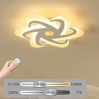 Elegante LED Deckenleuchte Wohnzimmerlampe Moderne Designer Lampe Kreativ Metall Acryl Florales Muster Decke Leuchte Deckenlampe