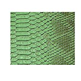 Green Snake Skin Fabric,Soft Material Fabric Vinyl Leather.wide 54''x 18''length, Sold By Separate Half Yard