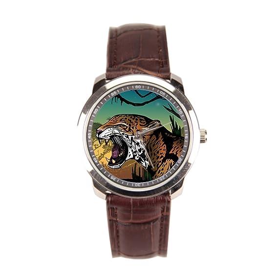 besgirler piel banda MENS relojes Jaguar lujo muñeca relojes Animal: Amazon.es: Relojes