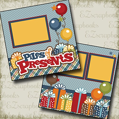 2 12x12 Premade Scrapbook Pages - 7