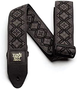 Ernie Ball P04093 Regal Black Jacquard Guitar Strap, 182 cm