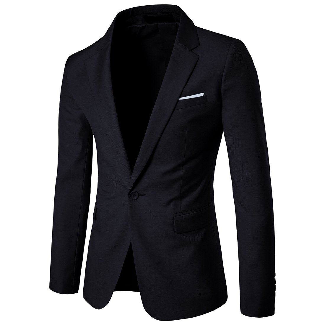 WULFUL Men's Slim Fit Suit One Button Suit Coat Casual Business Lapel Blazers Jacket by WULFUL