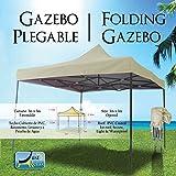 Just Relax Folding Gazebo Canopy, 10x10 Feet (Beige)