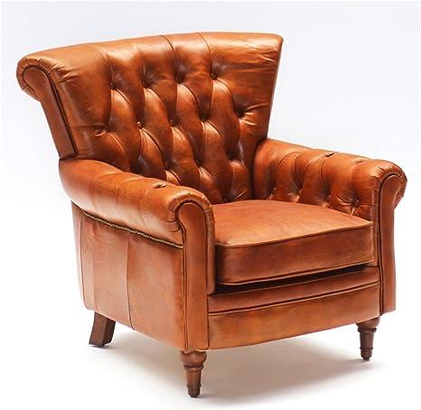 Phoenixarts Vintage Echtleder Chesterfield Ledersessel Braun Design Lounge Ohrensessel Leder Club Sessel 549 Amazon De Kuche Haushalt