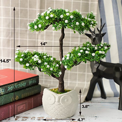 Myartte Cute Baby's Breath Blossom Artificial Bonsai Flower/Tree for Home Decor (White)