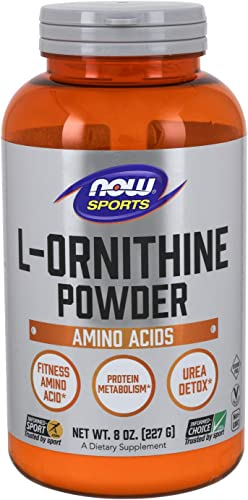 NOW Sports Nutrition, L- Ornithine Powder, Protein Metabloism* and Urea Detox*, Amino Acids, 8-Ounce