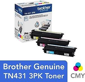 Brother TN-431 3PK, Cyan, Magenta, Yellow, Standard Yield, Model: TN4313PK