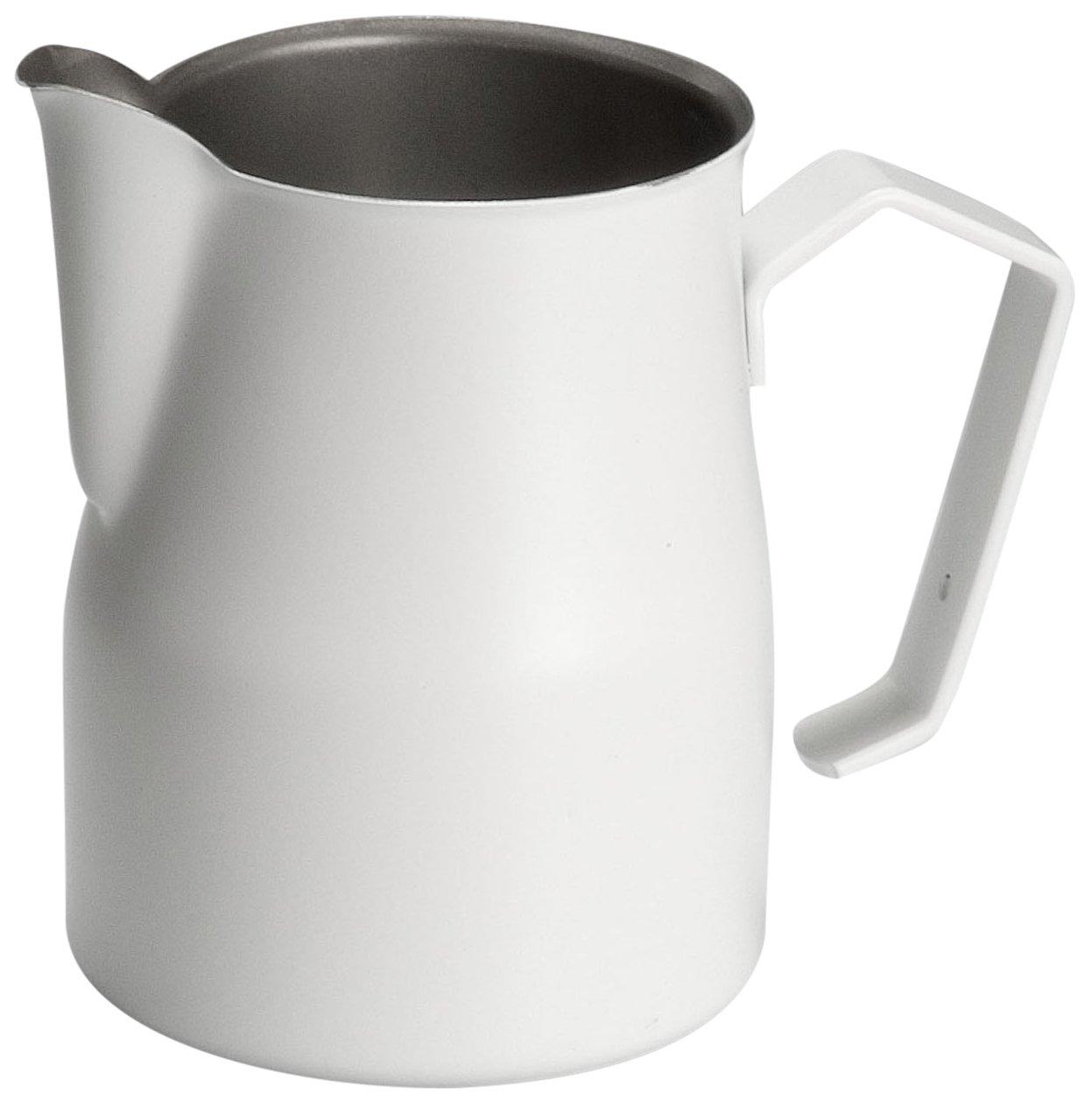 Motta Stainless Steel Professional Milk Pitcher/Jugs, 17 Fluid Ounce, White by Metallurgica Motta