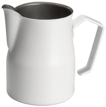 Motta 2450 Jarra para emulsionar leche, Acero Inoxidable, Blanco