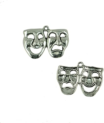 Halloween themes Tibetan Silver Ghost Charms 5 per pack