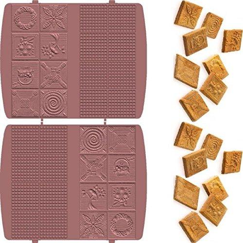 1 Satz Zimtwaffelplatten passend für Syntrox Chef Maker ZN-2000W und Efbe Schott Zaubernuss ZN 800 XXL