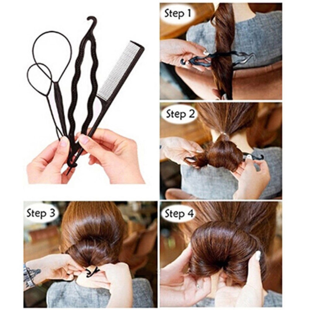 Hair Accessories Plate Hair Tools,Magic Hair Styling Accessories Decorative Donuts Set Kit 20 set