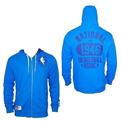 Adidas NBA Washed FZ Hoody Track Top Baloncesto Deportes Chaqueta Azul, Hombre, Color Azul