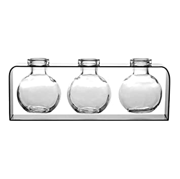 flower bud vases home decor colored glass vases floral centerpieces g172f clear - Decorative Glass Vases