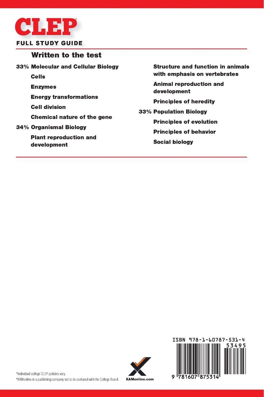 CLEP Biology 2017: Jeffrey Sack, Sharon A Wynne: 9781607875314: Amazon.com:  Books