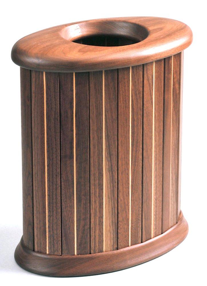 旭川家具 ササキ工芸 天然木 くずかご 楕円 S ウォルナット TB-OV-S-W B00M7LUQU4ウォルナット Small