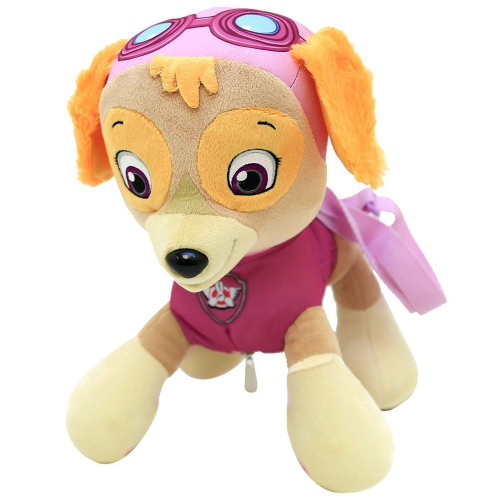Skye PAW PATROL Character Plush Back Pack //w One Small Pocket