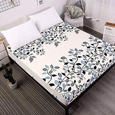 SUYUN Protector de colchón - Microfibra - Antiácaros - Transpirable - Funda para colchon,Impresión de poliéster Love Home 150X200cmX25cm
