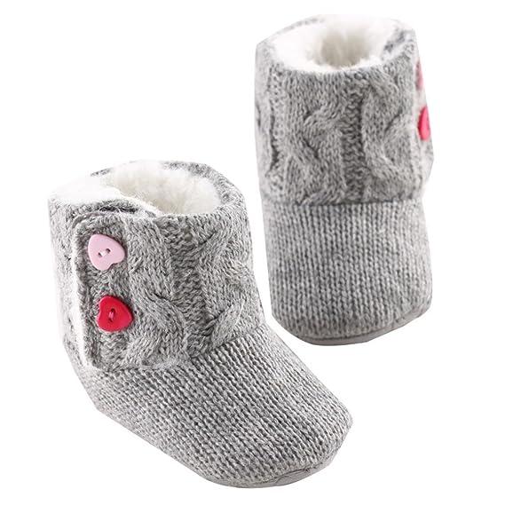 Tefamore Zapatos de niño Prewalker Invierno Soft Sole Crib Botones de botón Caliente  Boots de algodón para bebés  Amazon.es  Ropa y accesorios 31836fd559b6