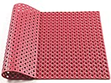 Hefty Mat rubber Door Matting for the door of Office,Home,Kitchen and other, Red, 35.4×23.6×0.28 inch