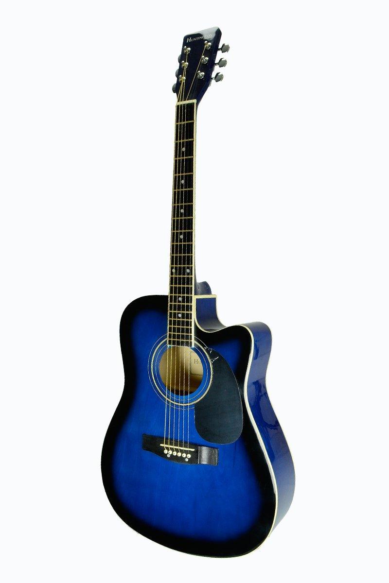 Tamaño Completo Azul Guitarra Eléctrica y Acústica Cutaway Con 3 EQ ...