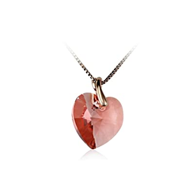 672e83c3a5485 Amazon.com: KnSam Crystal Necklace for Women Heart Shaped Crystal ...