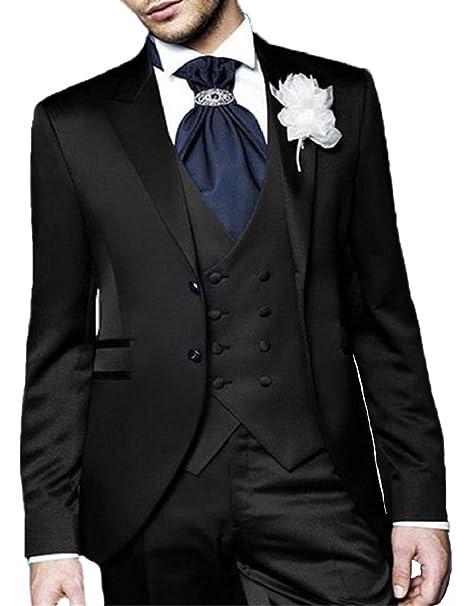 Amazon.com: DGMJDFKDRFU XZ022 - Traje de boda para hombre, 3 ...