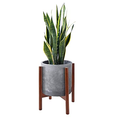 Mid Century Wood Plant Stand Holder for Planters Up to 10 Inch, Indoor Flower Pot Potted Planter Rack Caddy Trivet (Pot and Plant Excluded), Dark Wood Color : Garden & Outdoor