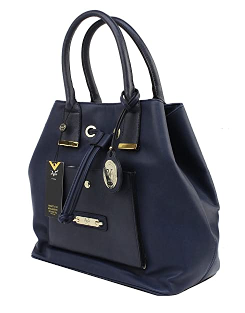 Versace 19v69 Italia- Abigail Bucket Luxury Fashion Woman Handbag (Lapis) 84ea70b29939f