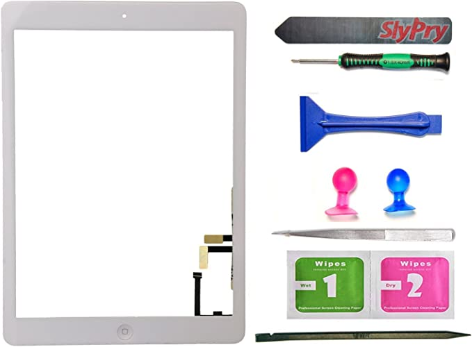 Touch Screen Digitizer Replacement Apple iPad 3 White with home and tools us