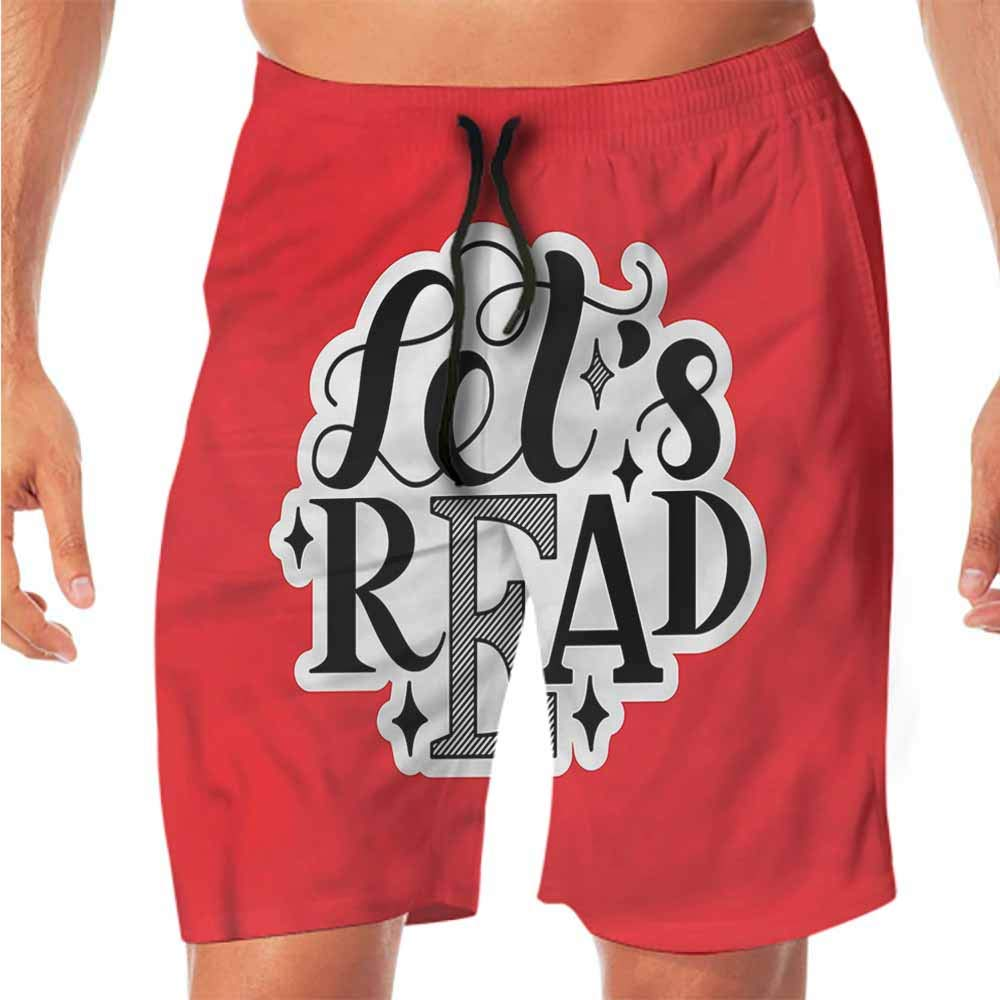 Quick-Dry Beach Swim Shorts Book,Books are Magic Pale Color Workout Shorts