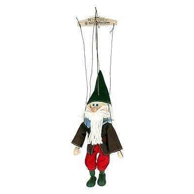 ABA 20cm en bois Nain Sleepy Marionnette Jouet (Multicolore)