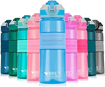 botella de deporte port/átil de pl/ástico saludable para beber agua Botella de agua de 450 ml para ni/ños con pajita sin BPA