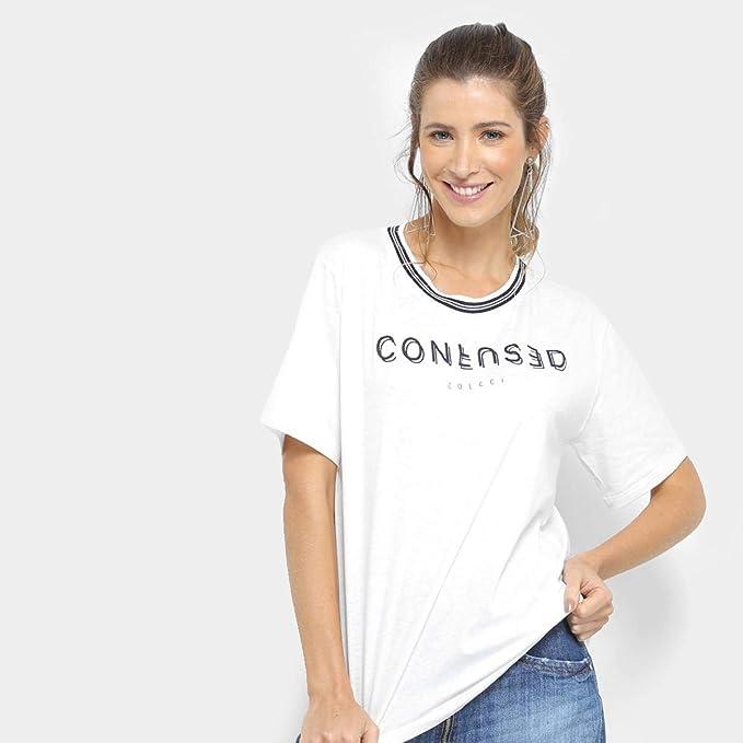 57ca004b7 Camiseta Colcci Confused Gola Listras Feminina  Amazon.com.br ...