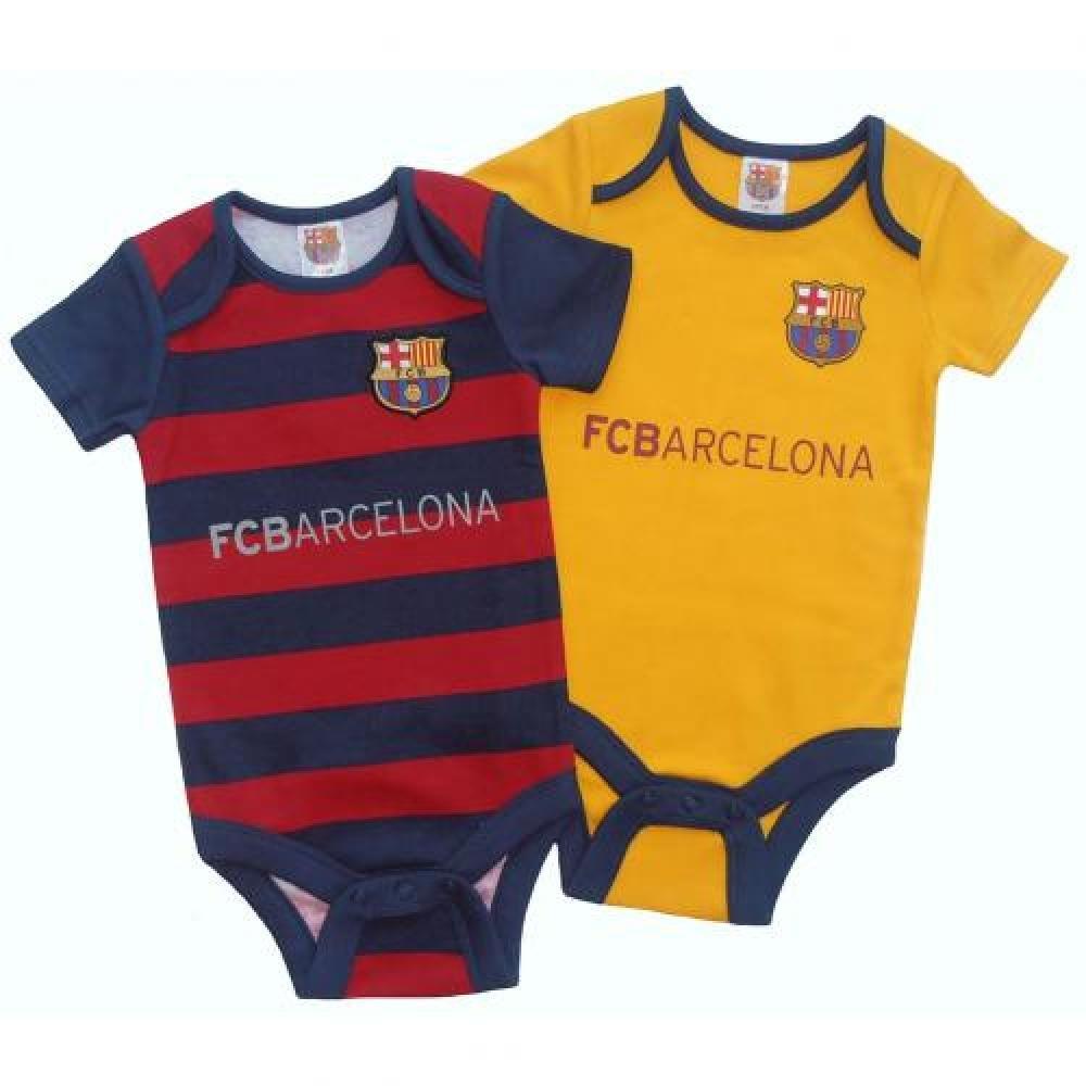 FC Barcelona Oficial de fútbol regalo bebé Pelele (12 - 18 meses) (2 unidades) - una gran Navidad/regalo de cumpleaños idea para bebés: Amazon.es: Deportes ...