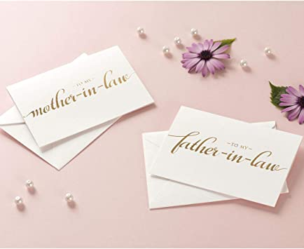 Wedding To my Mother /& Father on my wedding day card Mother-in-law wedding card Parents card Father-in-law wedding card 4 card bundle