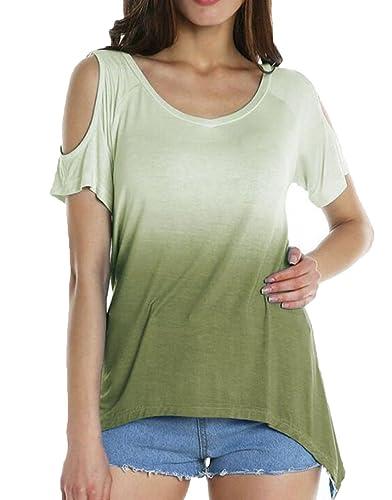 LemonGirl Mujeres Top de la blusa de la camisa de la gasa de las