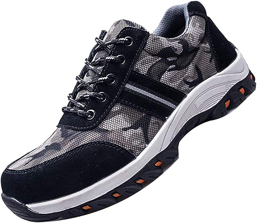 JACKSHIBO Safety Steel Toe Shoes Men Women Indestructible Work Shoes Composite Construction Shoes Lightweight Puncture Proof Hiking Shoes