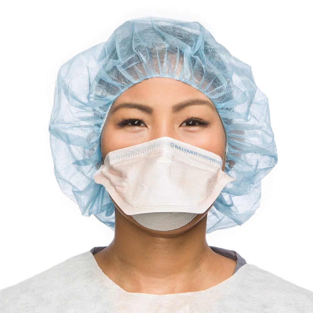 HALYARD FLUIDSHIELD Surgical N95 Respirators, ASTM Level 3 Mask, Regular Size, Orange, 46727 (Box of 35)