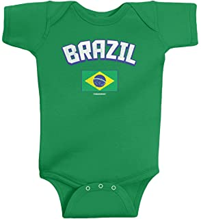 Amazon.com: PAM GM Brazil Soccer Baby Romper: Clothing