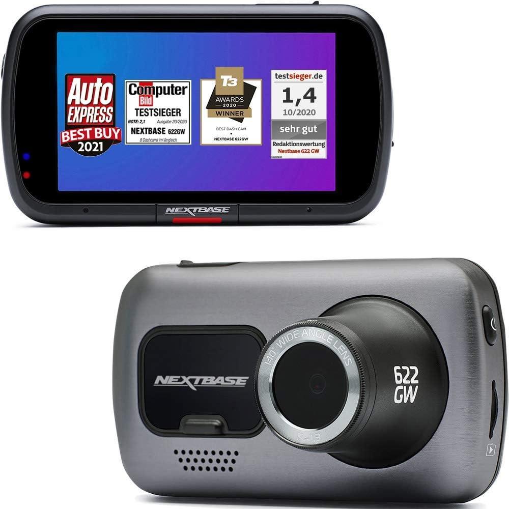 Nextbase 622GW DashCam Full 4K 30fps WiFi GPS Bluetooth Alexa integrada Video HD cámara en el Tablero del automóvil grabación Frontal ángulo de visión de -140