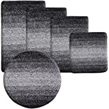 Sky Deep Pile Luxury Bath Mat, Ombre - Black | Ultra Soft, Thick Pile - 80 x 150 cm | 5 Sizes Available by Sky