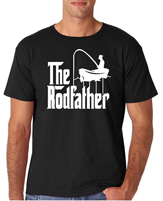 e81709c56 12.99 Prime Tees Adult The Rodfather Funny Fishing T Shirt Large Black |  Amazon.com
