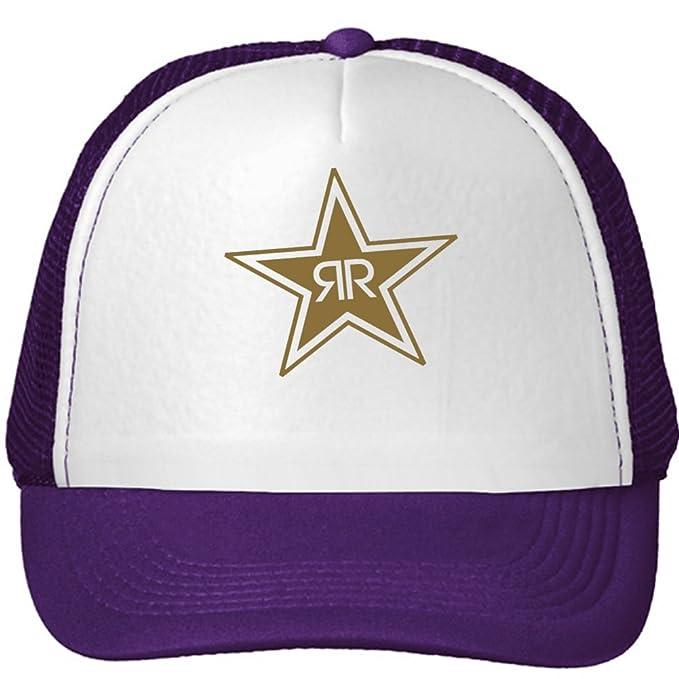 Rockstar Energy Drink Gold Logo Mesh Snapback Trucker Hats Caps One Size  Purple 48be30de63a