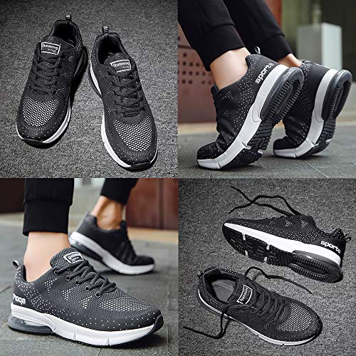 Mens Air Cushion Sneakers Sports Running Shoes Flyknit Breathable Youths Student