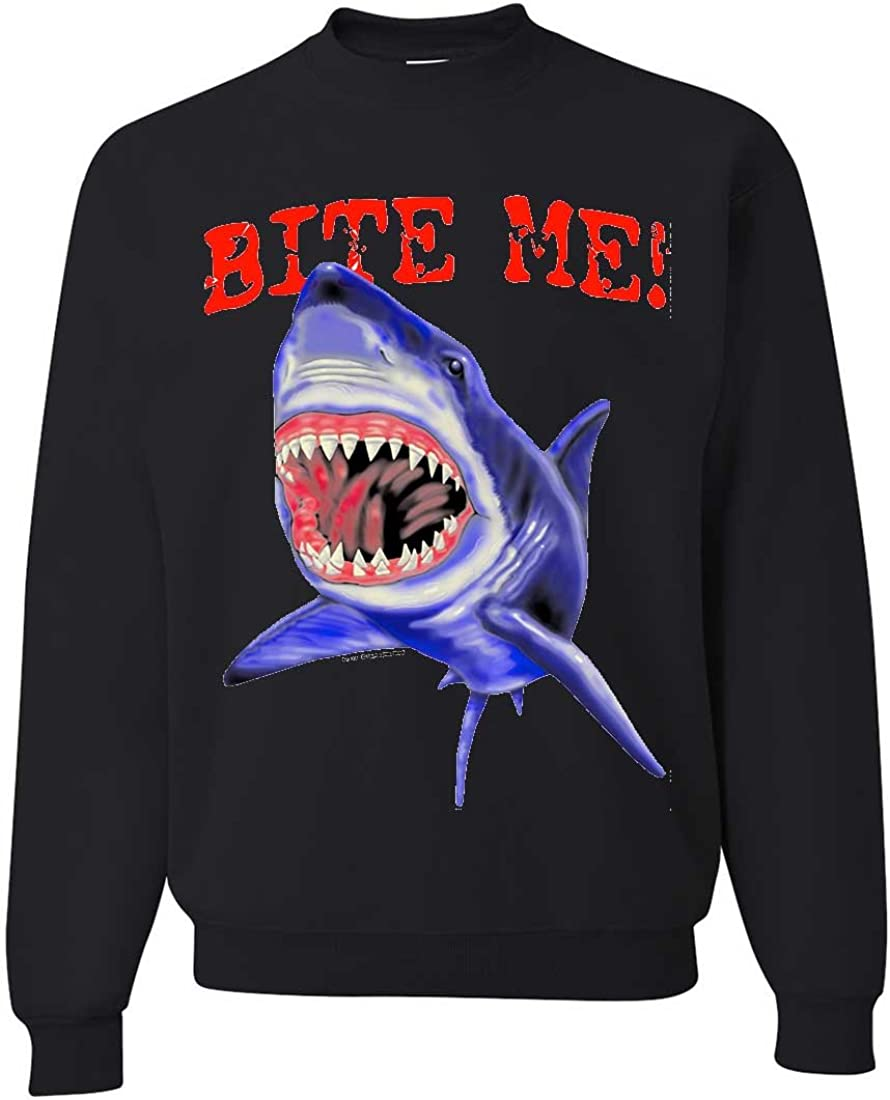Bite Me Great White Shark Crewneck Sweatshirt